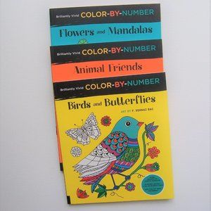 BRILLIANTLY VIVID Color-by-Number (NWT)